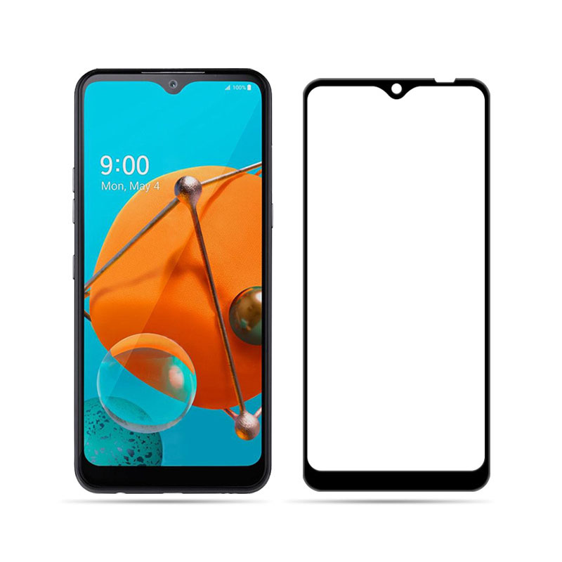 9H Tempered Glass For LG K51 Full GULE Cover 9H Protective Film Case Screen Protector For LG K51 6.5\