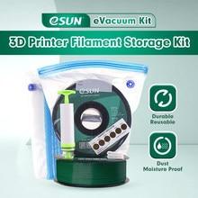 Esun kit saco de armazenamento 3d impressão de seda pla petg tpu filamento selado a vácuo manter seco evitar a umidade para carretéis de impressora 3d