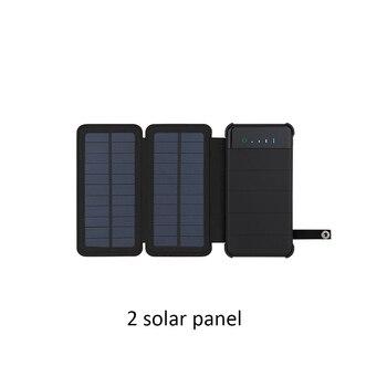 Ηλιακός Φορτιστής Με Πάνελ 10000mAh Διπλή θύρα USB Εξωτερική Συσκευή Πτυσσόμενη Αδιάβροχη Τροφοδοσία Ρεύματος Power Banks Gadgets MSOW