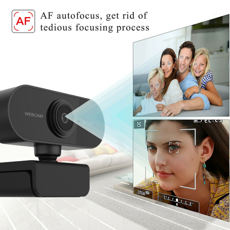 720P Auto Focus HD Webcam Built-in Microphone High-end Video Call USB2.0 Camera Computer Peripherals Web Camera For Laptop