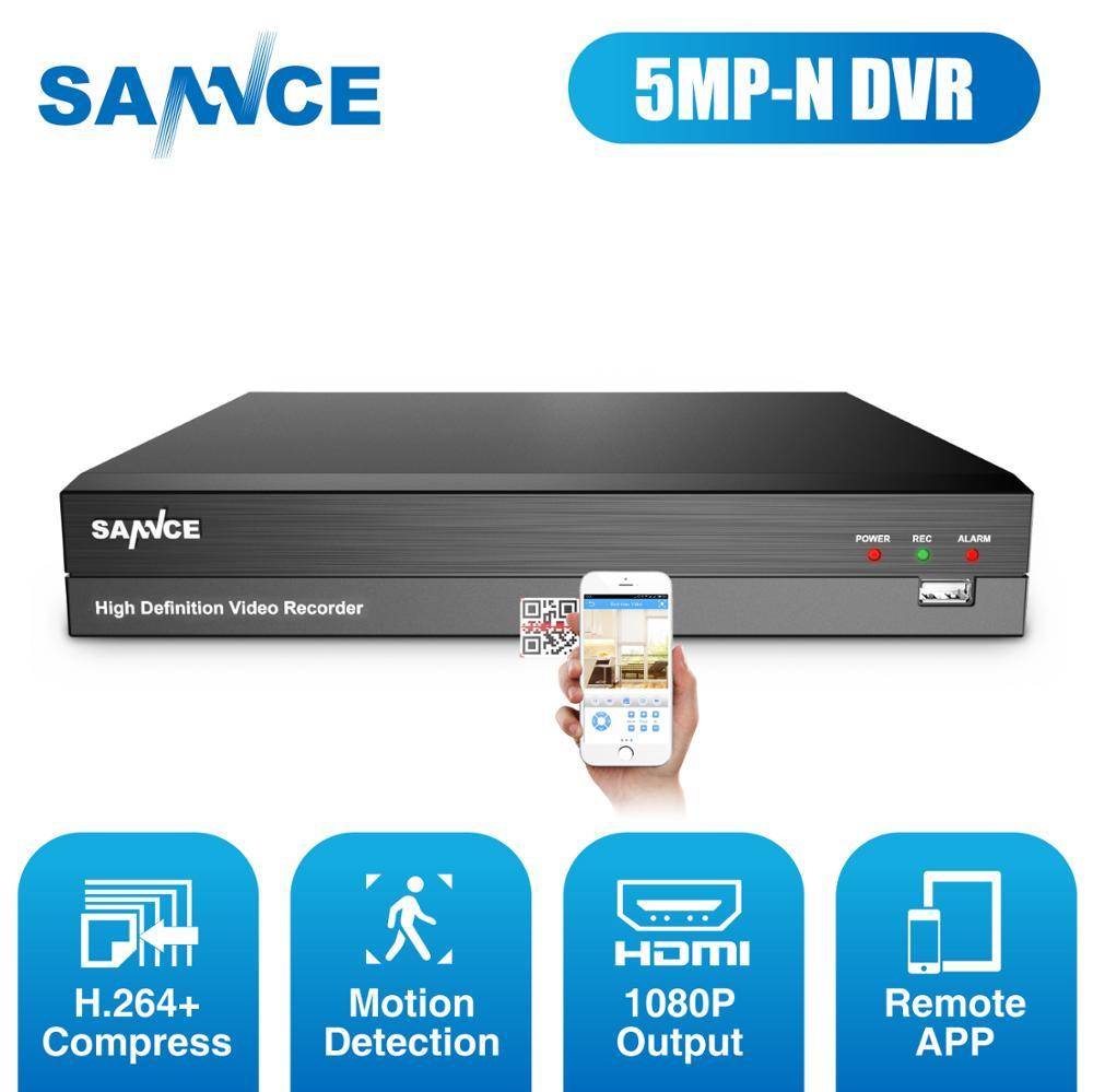 Enregistreur de Surveillance vidéo Super HD SANNCE 8CH 5MP-N 5MP Lite H.264 + Support DVR de sécurité