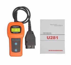 OBD сканер U281 для U281 для V W для AU DI для SEAT ABS подушка безопасности устройство для сброса кода CAN BUS OBD2 сканер инструмент