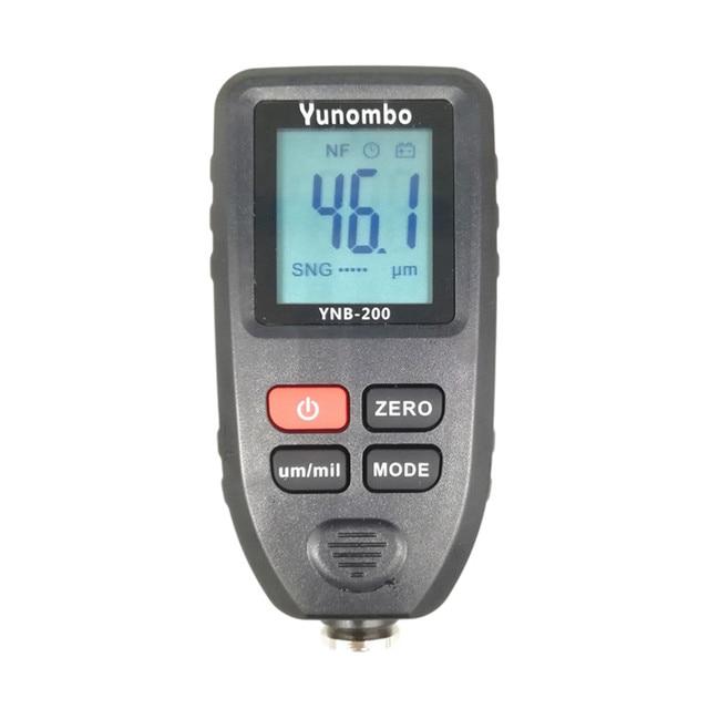 YNB 200 Digital LCD Display Dicke gauge farbe beschichtung Digitale Autolack Dicke Meter 0 1300um Breite Messung tester
