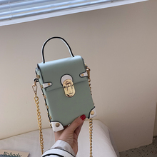 Fashion Mini Leather Crossbody Bags For Women 2019 Luxury Universal Mobile Phone Bag Female Rivet Chain Shoulder Bag Bolso Mujer