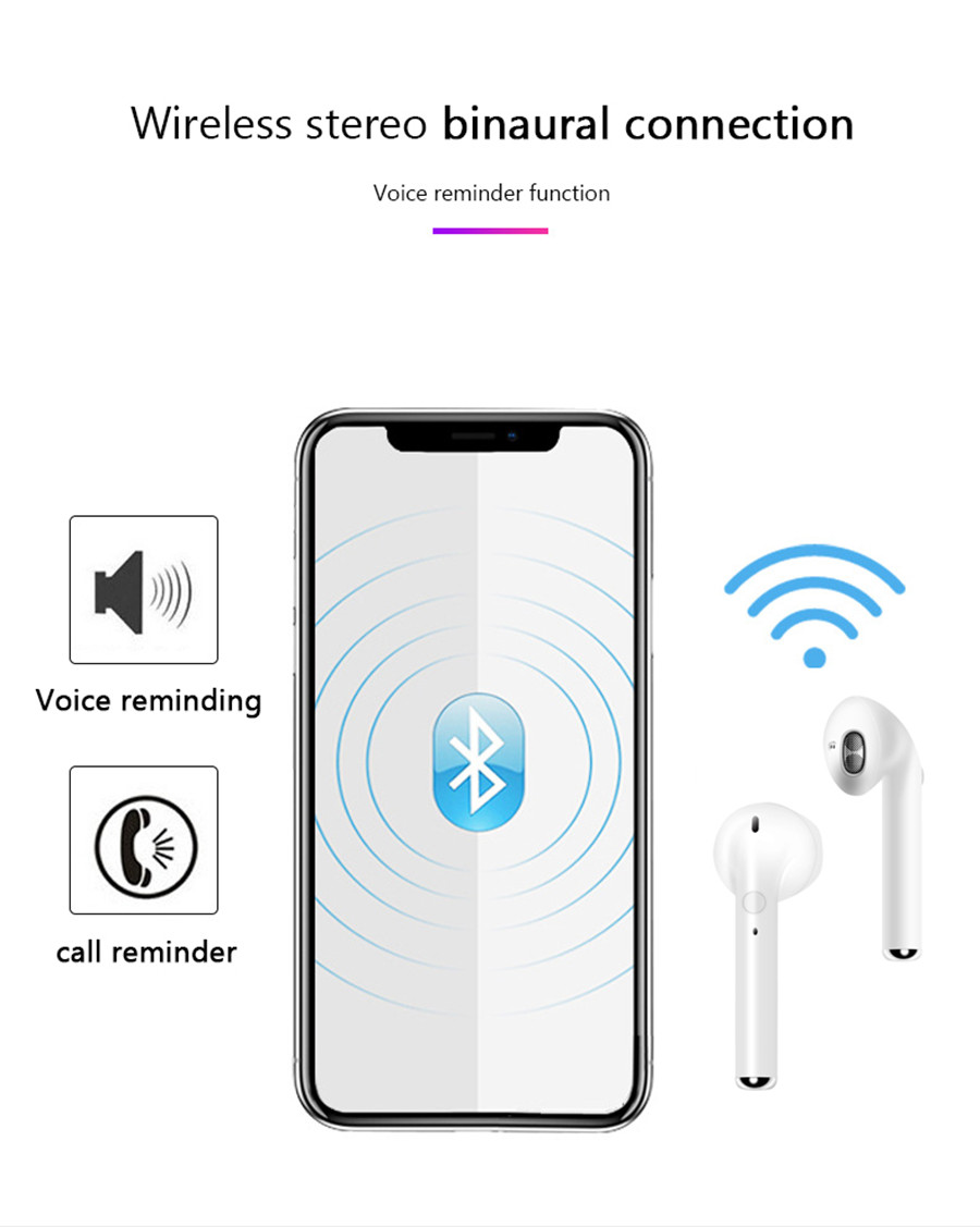 i9S TWS Wireless Bluetooth 5.0 Earphones Mini Earbuds Sport Handsfree Headphones Headset With Charging Box for All Smart Phones