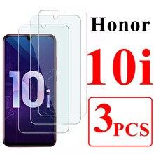 3 peças de vidro protetor para huawei honor 10i 10x lite temperado armadura onor 10 i tela prtector huavei honor10i xonor 10xlite