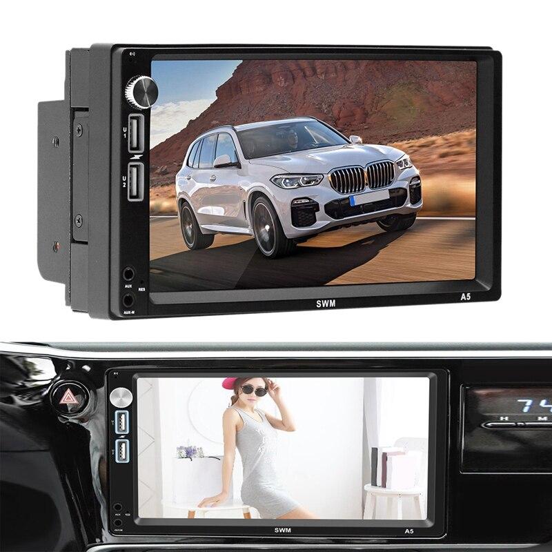 7 pouces Android 8.1 lecteur de voiture 2Din MP5 GPS récepteur stéréo enregistreur de conduite navigateur Radio Fm Wifi Bluetooth 4.0 unité de tête A5