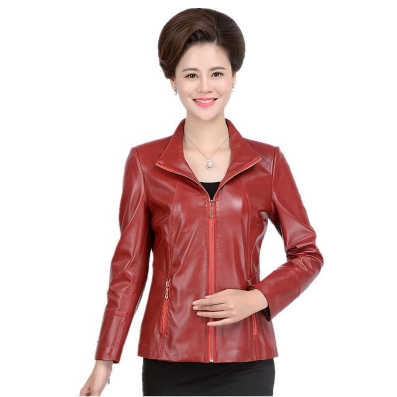 100% Real Sheepskin Leather Coat Women Spring Autumn Plus Size 5XL Jackets Jaqueta De Couro Feminina 2020 219 MF515