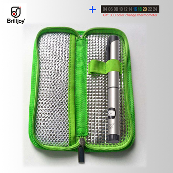 Brilljoy Portable Medicine Insulin Cooler Bag Diabetic Bag Cooling Insulin Pouch Thermal Insulation Cooling Bag Case Travel bags insulin refrigerator cooler medical travel insulin storage box cool case bag medicine interferon insulin pen small refrigerator
