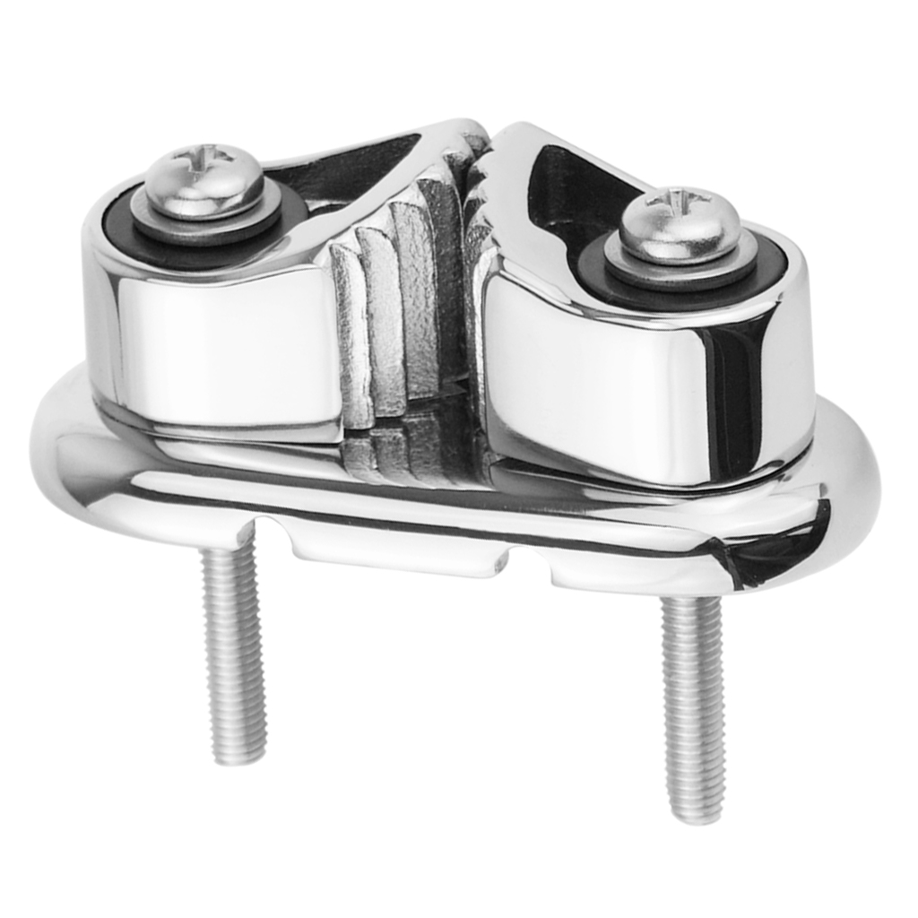 2x Stainless Steel 316 Boat Cam Cleat Matic Fairlead With Wire Leading Ring