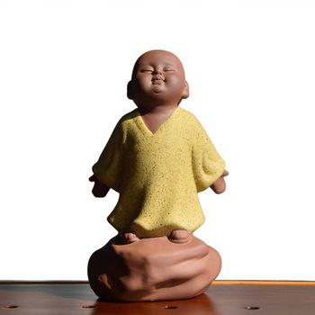 Kreatywne fajne ozdoby do herbaty z gliny Huan Kong Little Monk ozdoby do herbaty zestaw do herbaty kung fu nowicjusze ozdoby do herbaty zestaw do herbaty Mini zestaw do herbaty tanie i dobre opinie NoEnName_Null Ceramiki