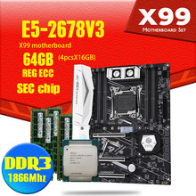 Placa base X99 con doble M.2 NVME DDR3 y DDR4 LGA2011-3 y LGA 2011 Intel Xeon E5 2678 V3 64GB(16GB * 4 uds) 1866MHz(China)