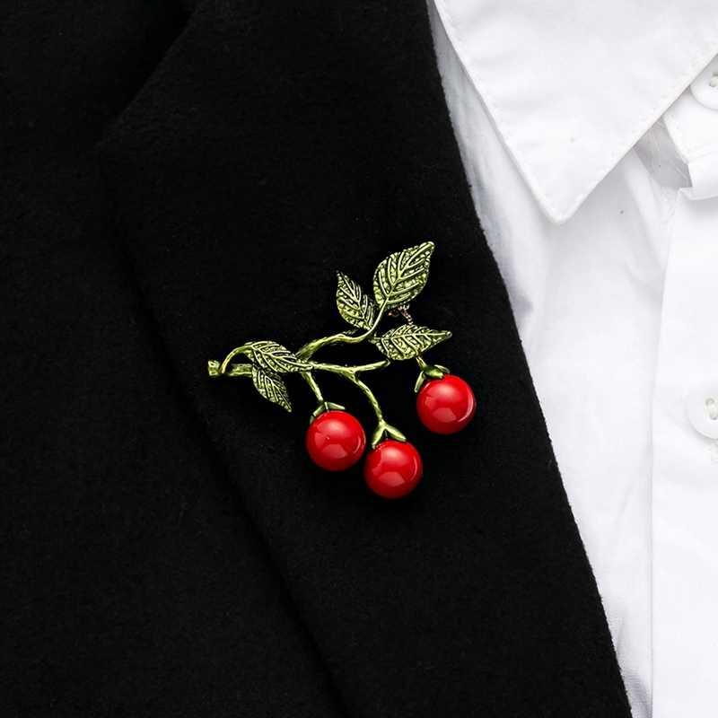 Pesona Mawar Enamel Pin Bros Beberapa Perhiasan Bunga Cherry Blossom Daisy Bros untuk Wanita Jaket Lencana Aksesoris