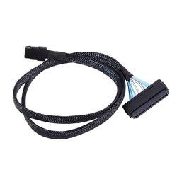 1M Mini SAS 36PIN SFF 8087 do SFF 8484 SAS 32 Pin kabel do transmisji danych zatrzask kabel w Złącza od Lampy i oświetlenie na