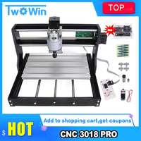 CNC 3018 Pro Laser Engraver Wood Router Machine GRBL ER11 DIY Mini Engraving Machine for Wood PCB PVC with offline controller