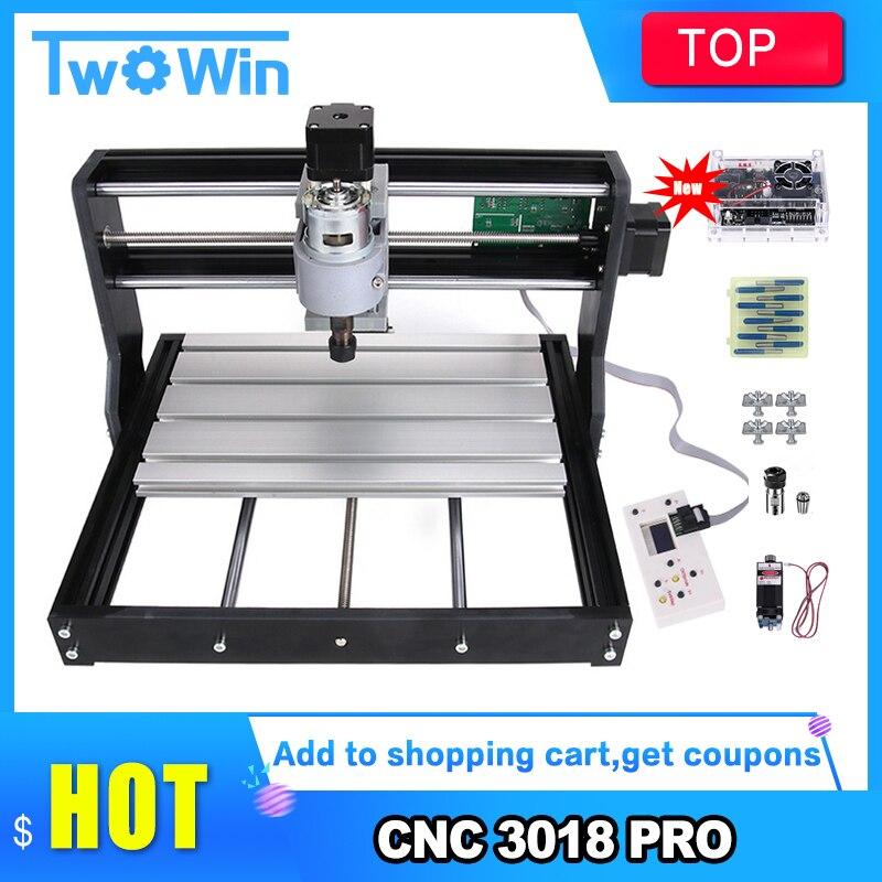 Cnc 3018 pro laser gravador de madeira máquina roteador grbl er11 diy mini máquina de gravura para madeira pcb pvc com controlador offline