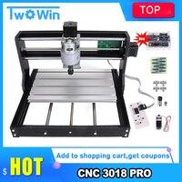 CNC 3018 Pro Laser Engraver Wood Router Machine GRBL ER11 DIY Mini Engraving Machine for Wood PCB PVC with offline controller