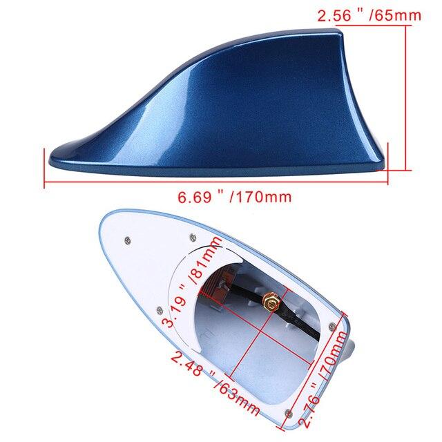 Antena de coche de techo alerón con forma de aleta de tiburón Universal para BMW KIA HYUNDAI RENAULT TOYOTA Radio de estilo de coche antenas de señal techo antenas