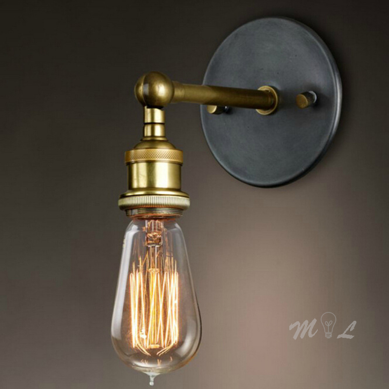 Industrial Wall lamps Iron Simple Wall Light Sconce Vintage Wall Lamp for Kitchen Loft Living Room