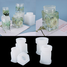 4 tipos garrafa de resina moldes drift frasco ferramentas silicone caixa armazenamento moldes cola epoxy diy porcelana fria