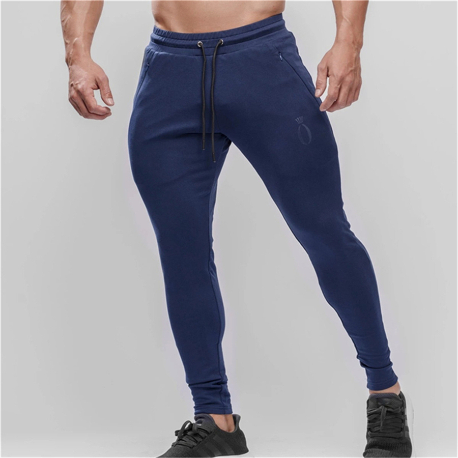 Mens Joggers Casual Pants Fitness Men Sportswear Tracksuit Bottoms Skinny Sweatpants Trousers Gyms Jogger Track Pants 4 Color