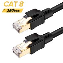Cat 8 red RJ45 SFTP LAN Cable de conexión par trenzado Cable de alta velocidad 25Gbps 2000MHz para módem, Router, ordenador, PS4, Xbox One(China)