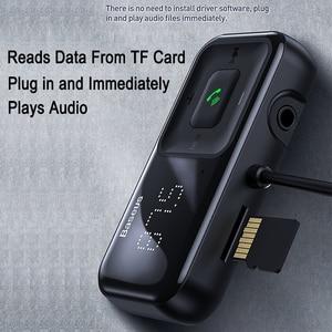 Image 5 - Baseus Fm Modulator Zender Bluetooth 5.0 Fm Radio 3.1A Usb Car Charger Handsfree Car Kit Wireless Aux Audio Fm Zender