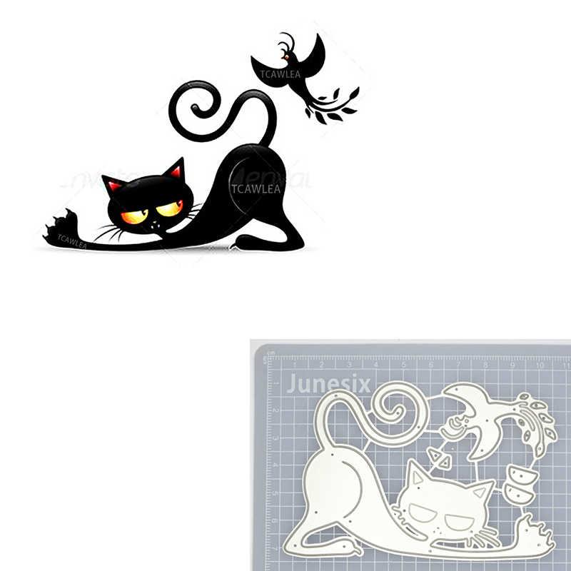 2020ラブリー猫パンプキン金属切削ダイス動物ペットチーズステンシルdiyスクラップブッキングカード装飾ハロウィンダイス