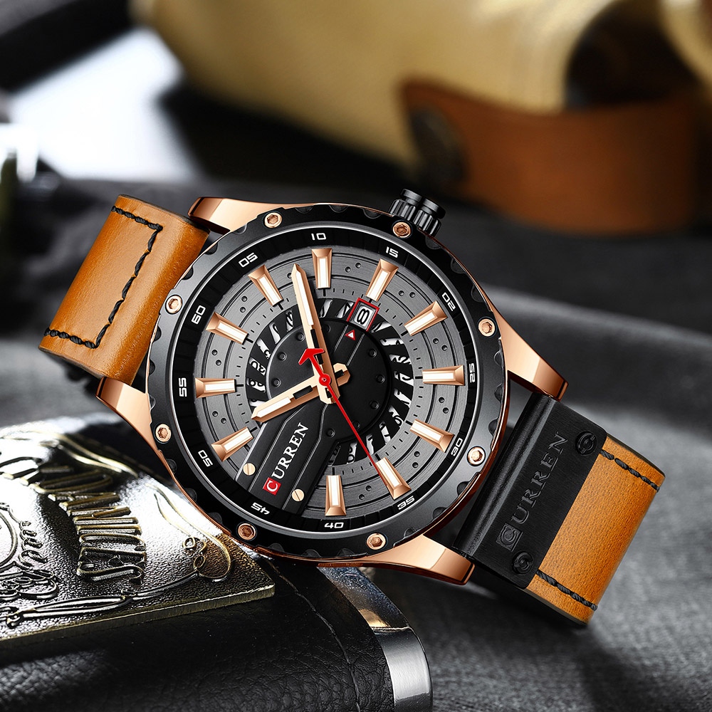 H9c6452d3f68d40b8a82f12fef0b08e5d4 CURREN Watch Wristwatch  New Chic Luminous hands