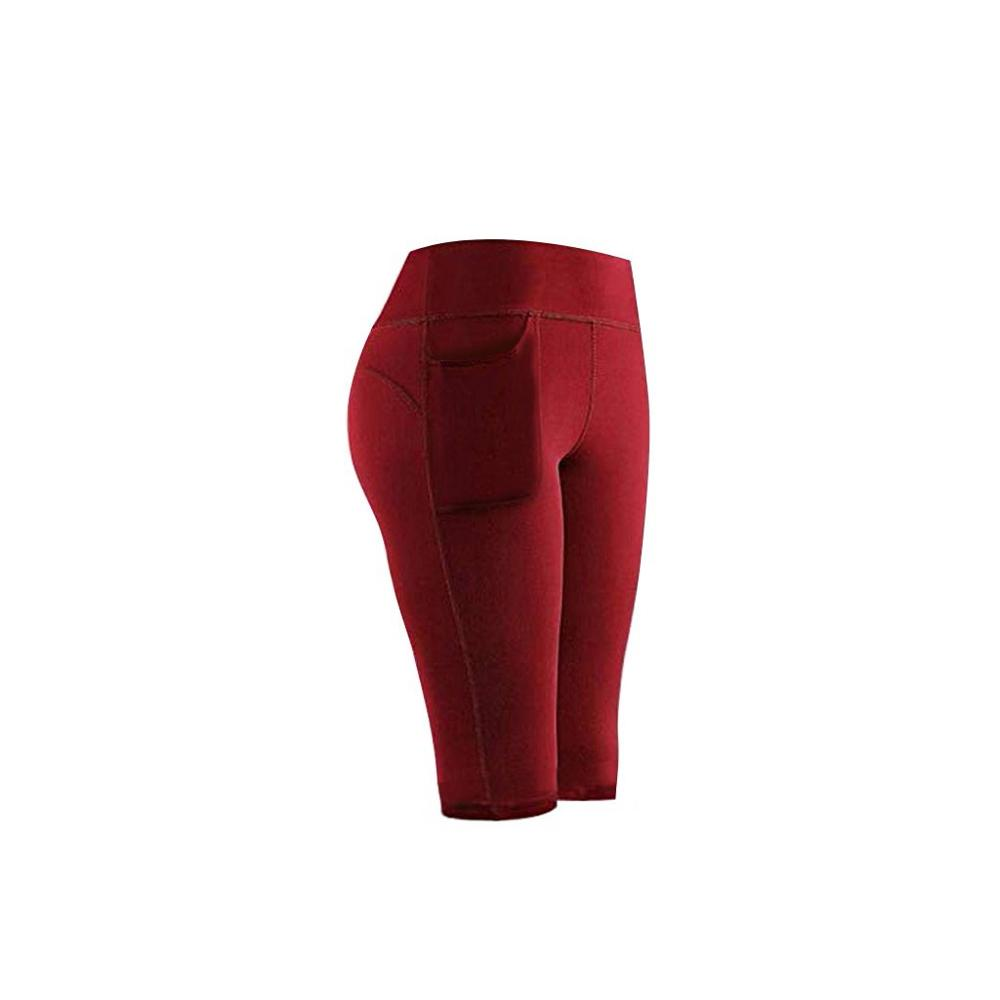 Leggings Sport Women Fitness High Waist Stretch Athletic Gym Casual Leggings Running Sports Pockets Active Pants For Cell Phone 5