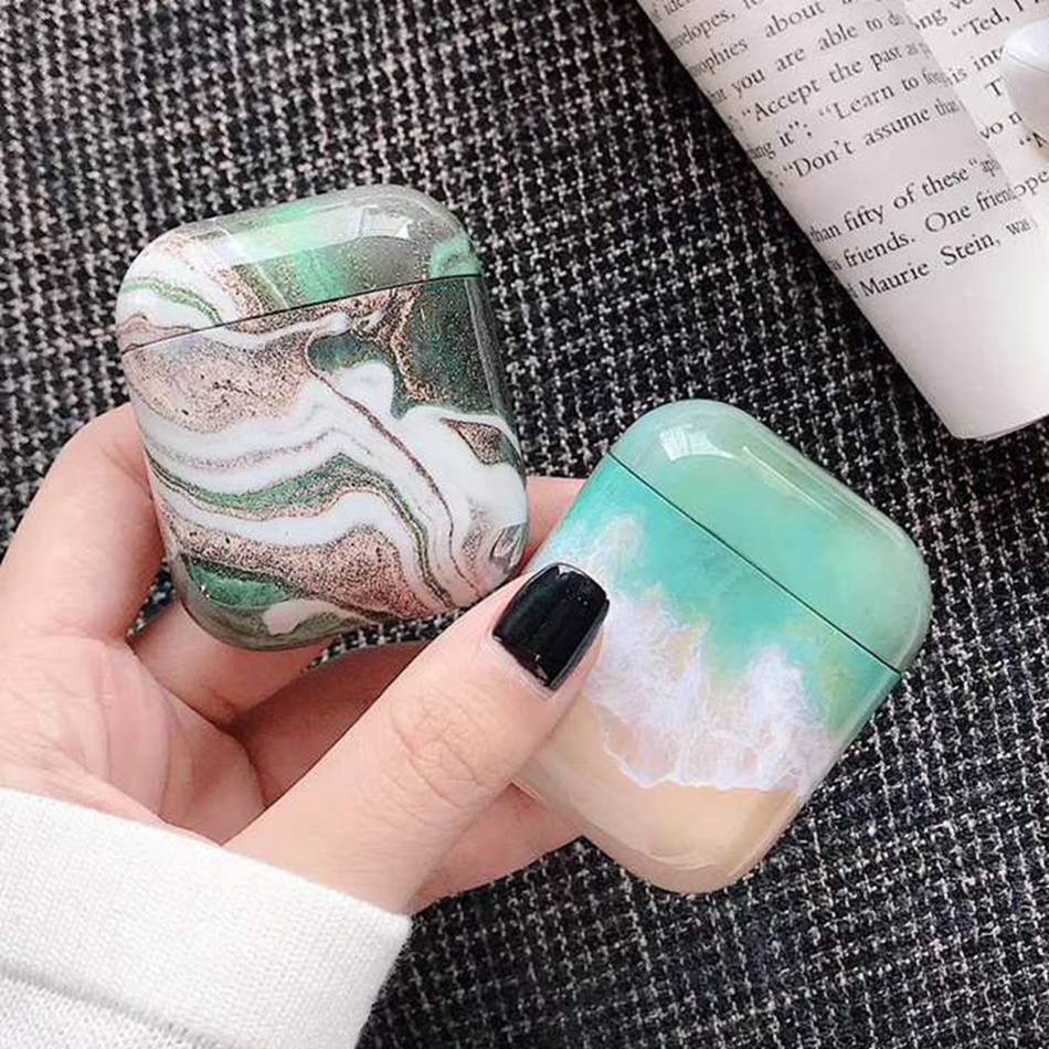 New Marble Case For Honor Fly Pods Pro Case Cute Silicone Earphone Case For Huawei FreeBuds 2 Pro Honor Flypods Cover Ring Strap