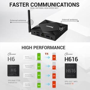 Image 2 - Android 10.0 Tanix TX6S Smart TV BOX 4GB pamięci RAM 32GB 64GB Allwinner H616 czterordzeniowy TVBox H.265 4K odtwarzacz multimedialny PK TX6 T95 A95X H96
