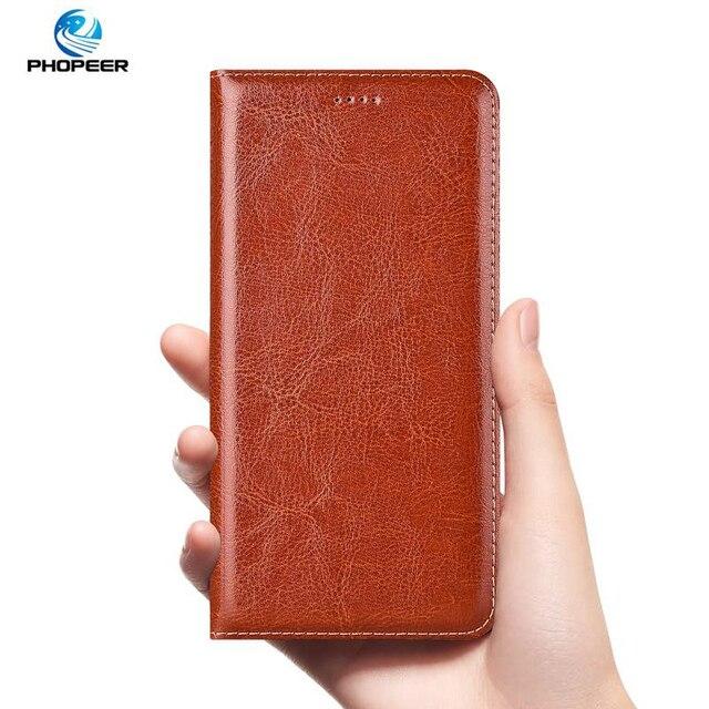 luxury Genuine Leather Case For Lenovo Vibe K3 K5 K6 Z5 A5 S5 Power K8 K10 Note Plus 2018 Play Pro Case Crazy Horse Flip Cover