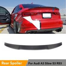 Задний спойлер для Audi A3 S3 Sline RS3 Sedan 2013- задний багажник спойлер для багажника крыло из углеродного волокна/FRP