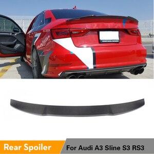 Spoiler Voor Audi A3 S3 Sline RS3 Sedan 2013 - 2019 Kofferbak Spoiler Boot Lip Wing Carbon Fiber/Frp(China)