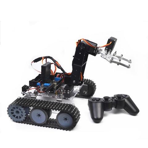 venda quente diy tanque programavel 4dof metal braco mecanico robo kit sem bateria modelo de