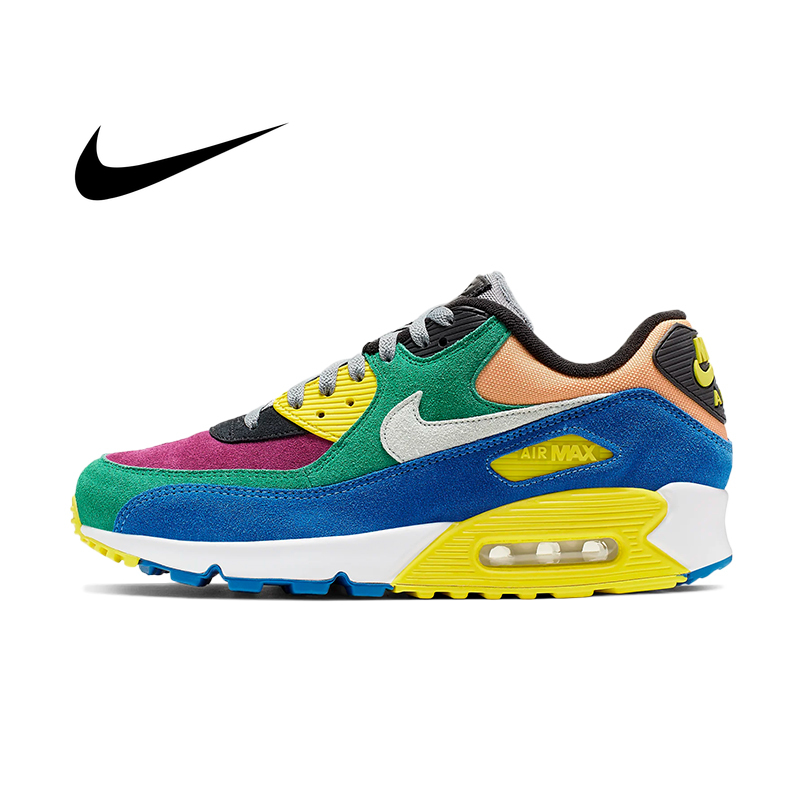 Original NIKE AIR MAX 90 ESSENTIALMen's Running Shoes New Color Low Top Lightweight Non-slip Fashion Personality Sneakers AJ1285