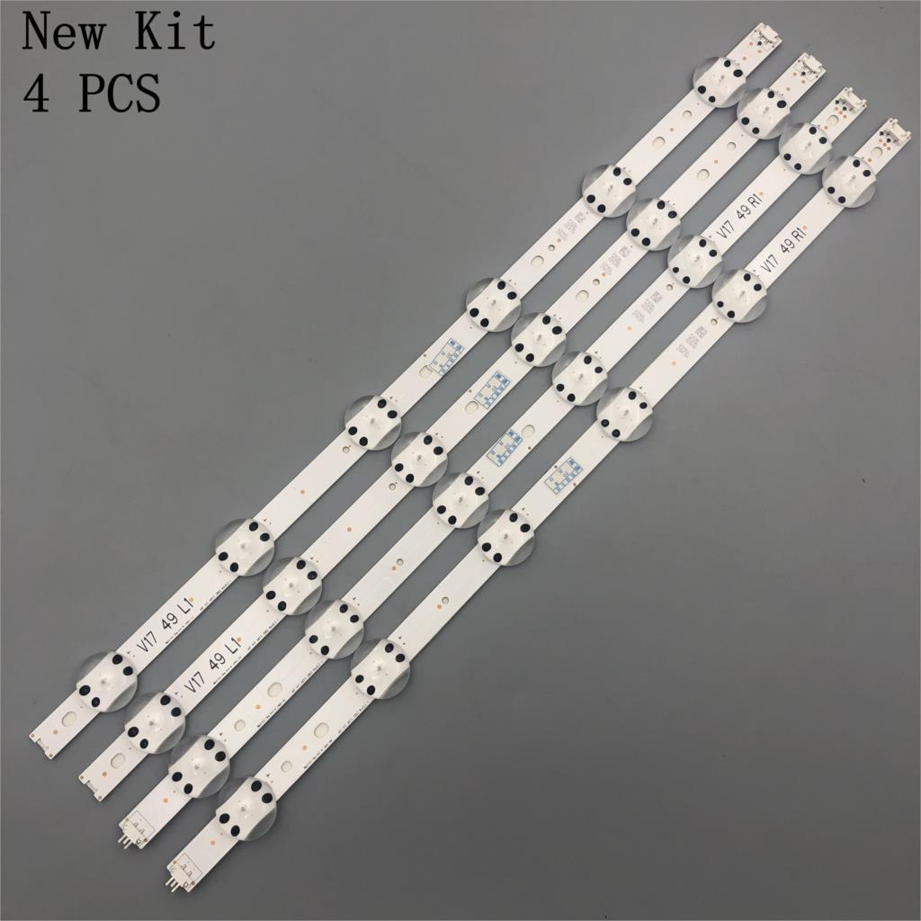 LED strip For LG 49UV340C 49UJ6565 49UJ670V V17 49 R1 L1 ART3 2862 2863 6916L-2862A 6916L-2863A