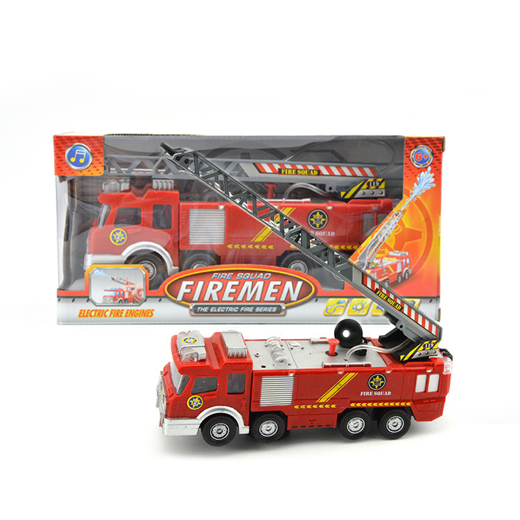 CHILDREN'S Toy Wholesale Model Music Light Electric Universal Water Spouting Fire Truck Taobao Stall Hot Selling Supply Of Goods