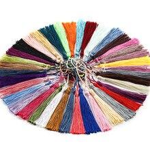 Corda de pendurar 30/pçs/lote 70mm, pingente de franja e borla de seda para diy, brincos, colares, fabricação de joias, busca acessórios, suprimentos