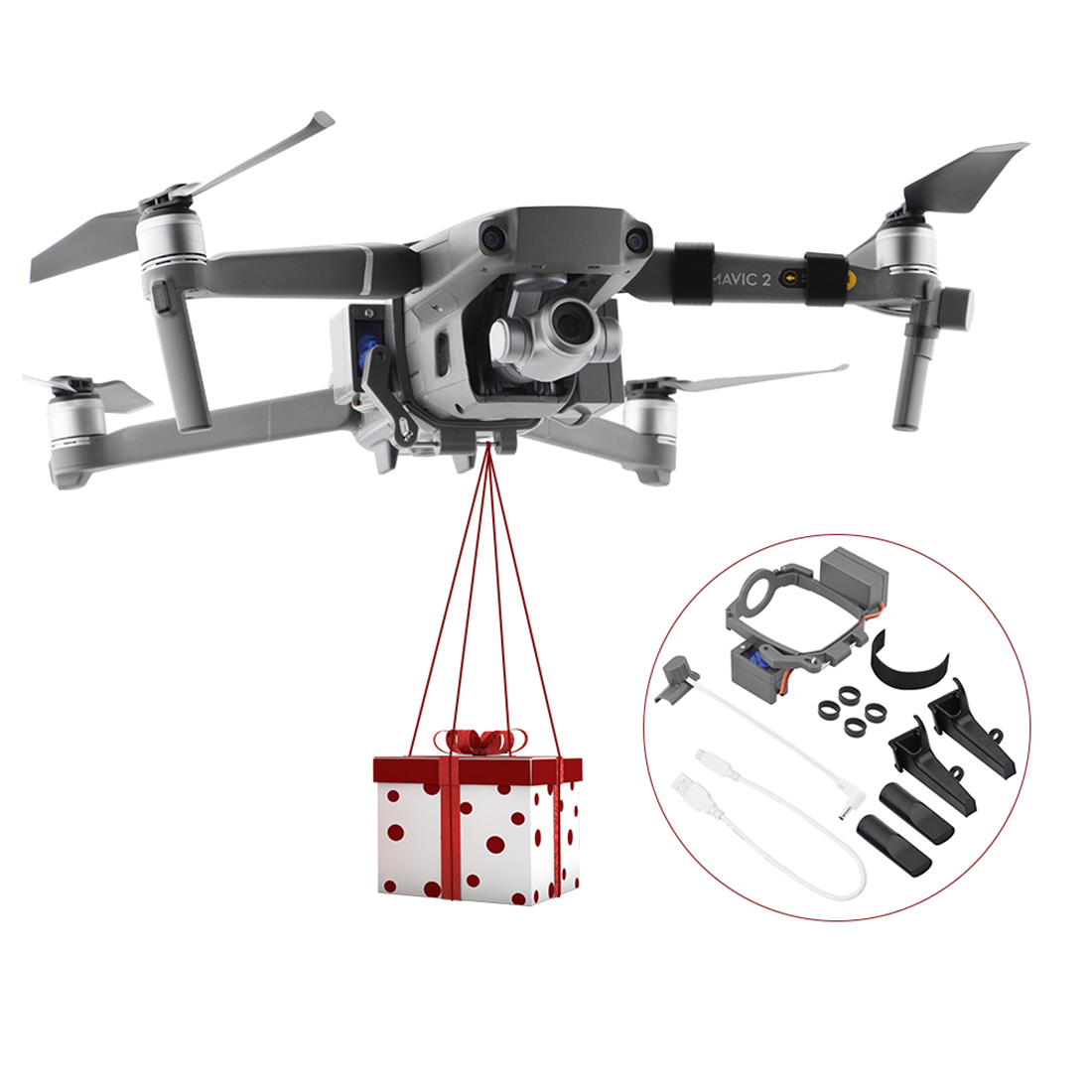 Best Chance for  HOBBYINRC FOR MAAVIC 2 Air Thrower Delivery Drop for DJI Mavic 2 Pro / Mavic 2 ZOOM Gift Wedding Ri