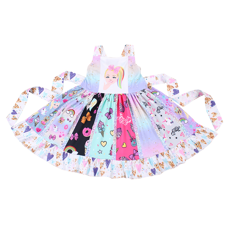 2019 Summer New Baby Girls Dress Fashion Princess Castle Twirl Dresses Childrens Clothes Kids Clothing Boutique 5