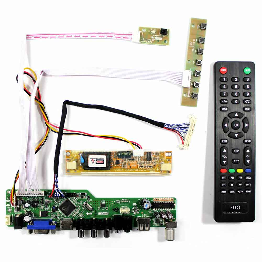 Kit for B140XW01 V0 V.0  TV+HDMI+VGA+USB LCD LED screen Controller Driver Board