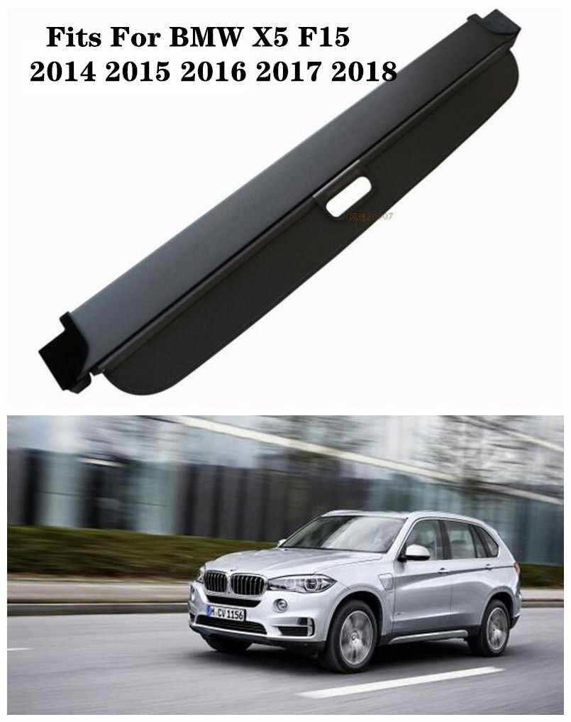 Car Security Shield Trunk Cargo Luggage Shade Shield Protective Cover Aieryu Retractable Rear Trunk Parcel Shelf for BMW X5 E70 F15 2008-2016