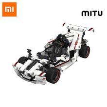 سيارة سباق ذكية من شاومي ميتو لعبة أطفال على الطريق تعمل بالبلوتوث 5.0 APP جهاز تحكم عن بعد ذكي 900 + أجزاء