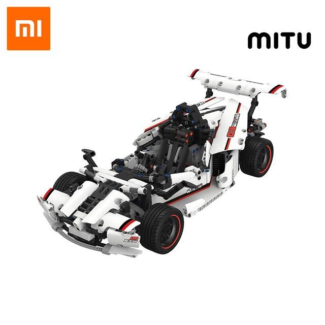 Xiaomi MITU akıllı yapı taşları yol yarış arabası çocuk oyuncak elektrikli Bluetooth 5.0 APP akıllı uzaktan kumanda 900 + parçaları
