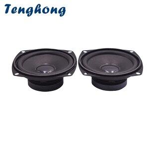 Tenghong 2 pçs 78mm 3 Polegada alto-falante de áudio 4ohm 5w alto-falante de gama completa unidade multimídia altifalante portátil para áudio diy