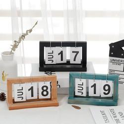 Drewniany stół kalendarz biurkowy blok drewna strugarka stały pulpit Agenda wieczny kalendarz Home Decor