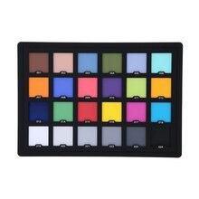 Test de carte de Palette de damier 24 couleurs professionnel Andoer pour une Correction de couleur numérique supérieure pour léquilibrage de lédition Photo