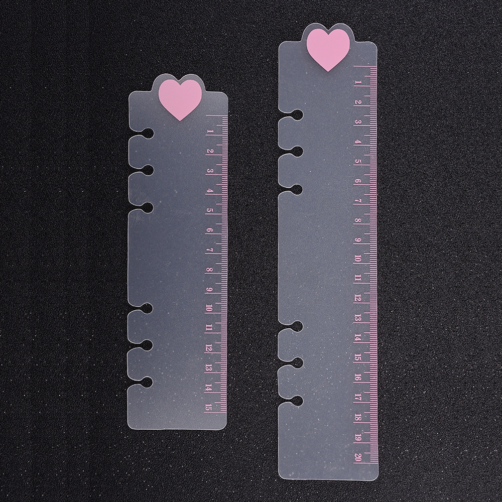 Heart 6 Holes PVC Spiral Binder Notebook Divider Inner Ruler For Notebooks Creative Stationery Office School Supplies